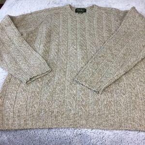 Eddie Bauer Heritage Wool crewneck beige Men's XXL